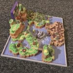 Super Mario World 3D Map Full color sandstone Printed Artwork Nintendo Real Life Statue 4