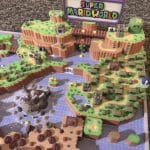 Super Mario World 3D Map Full color sandstone Printed Artwork Nintendo Real Life Statue 7