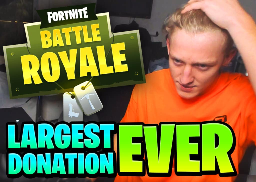 TFUE largest fortnite donation ever