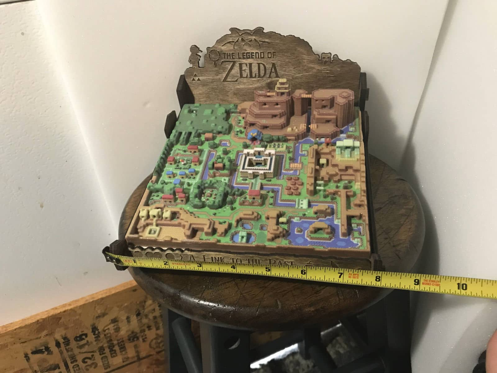 Gaming Art Taken To The Next Level A Link To The Past 3d Map Of