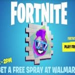free walmart fortnite spray emote