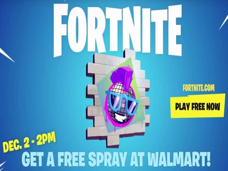 free walmart fortnite spray emote