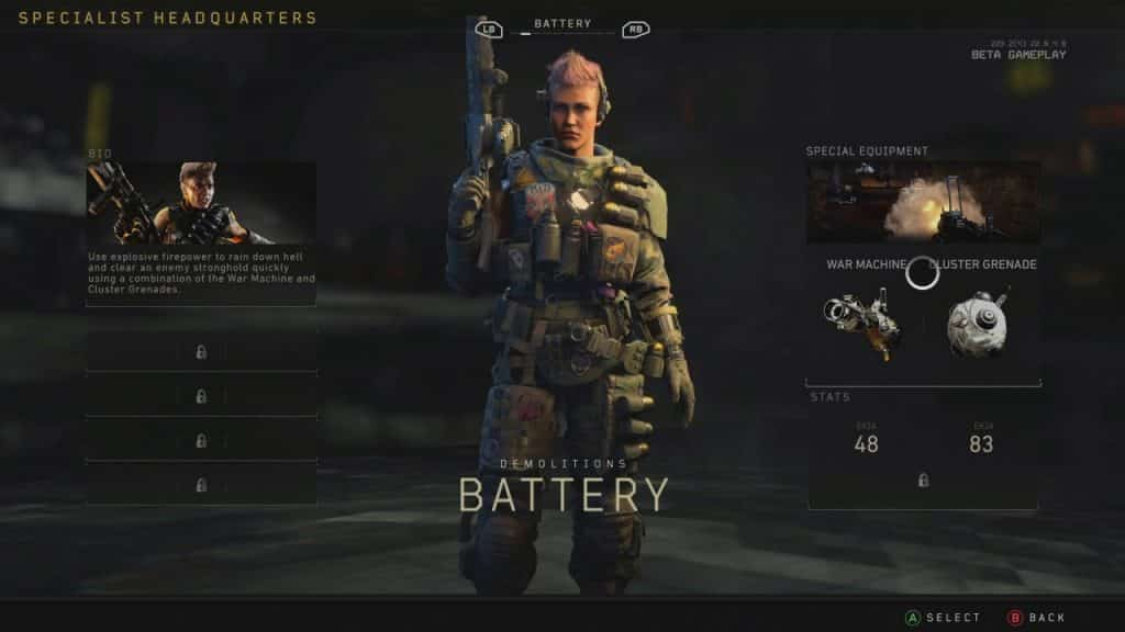 Black Ops 4 Battery Call of duty Character