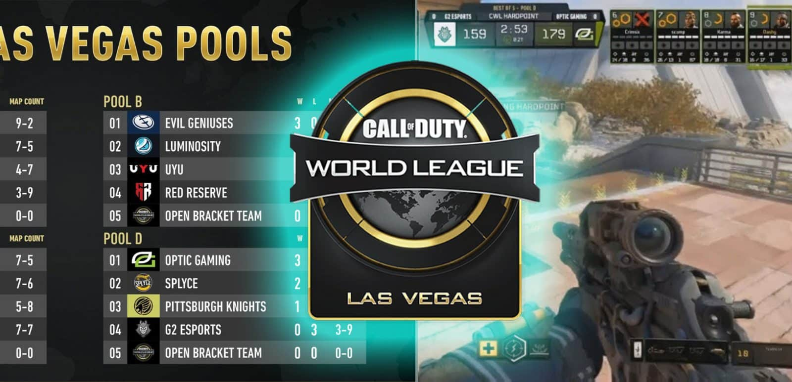 CWL Vegas 2018 UPDATE Top Teams Schedule and Start Time Open Esports OpTic Gaming Event