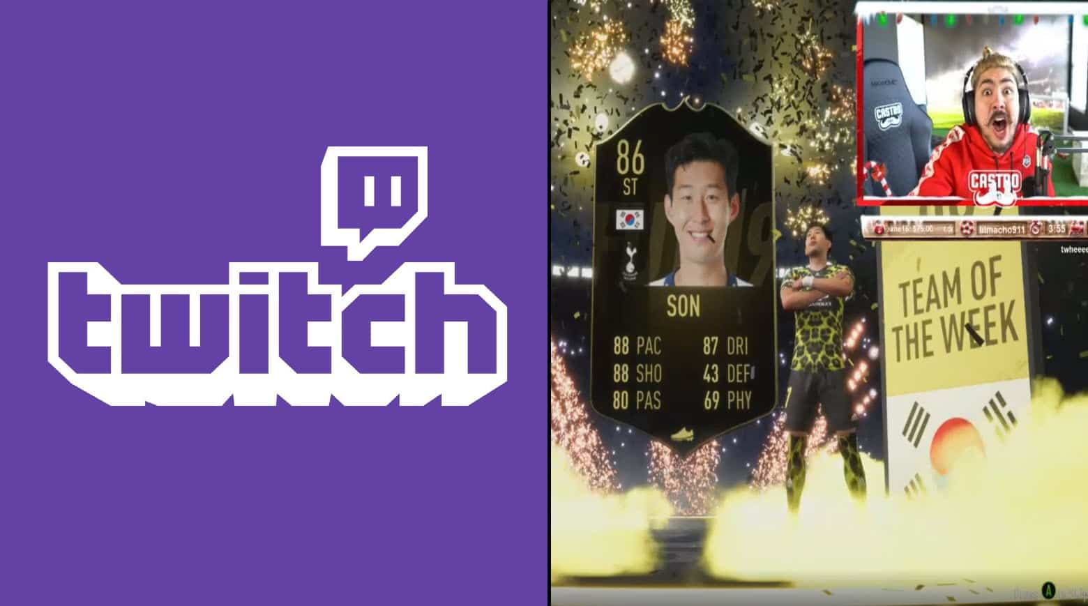 Castro1021 Esports Fifa 19 unpacked TOTW Son due to fan's suggestion
