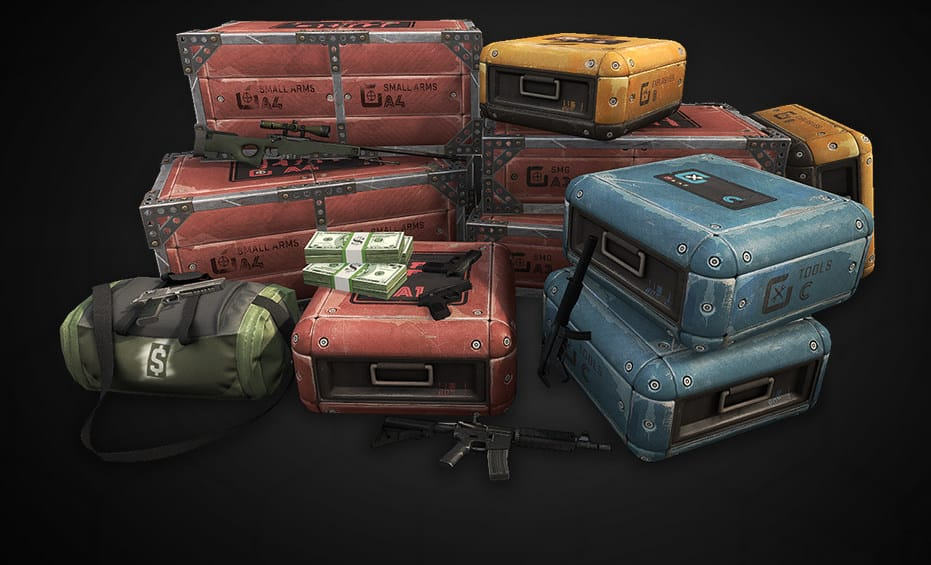Counter Strike CSGO equipment, money, and watch the skies for special deliveries.