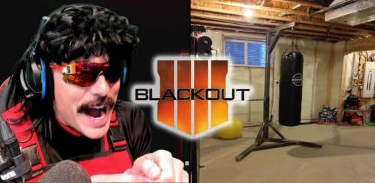 DrDisrespect Beats Up Gamer Desk Twitch Chair After Death Blackout Black Ops 4 Call of Duty