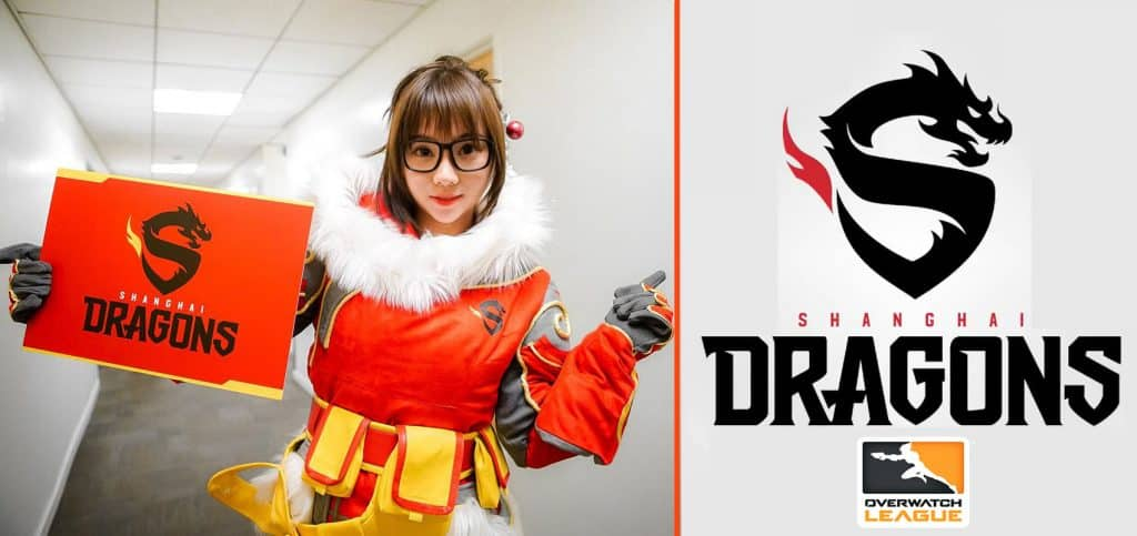 Espots Shanghai Dragons Professional Overwatch League Logo Team from China