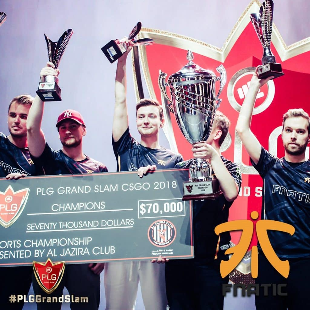 Fnatic won PLG Grand Slam CSGO Counter Strike Esports Tournament Champions