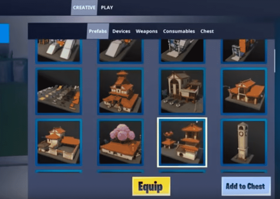 Fortnite Creative Mode Creation Weapon List Choose From Island