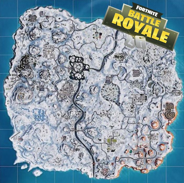 Fortnite season 7 map change full snow