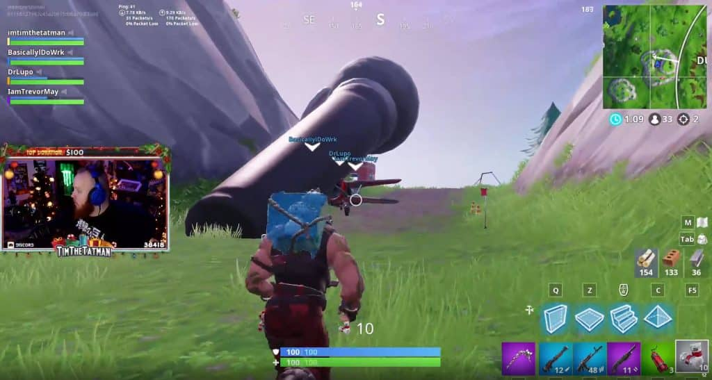 Giant Microphone Fortnite TimTheTatman Twitch Live Stream Battle Royale