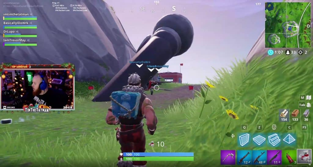 Giant Microphone Fortnite TimTheTatman Twitch Live Stream Battle Royale DrLupo