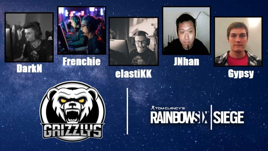 Grizzlys Esports Announce Their Rainbow 6 Siege Team