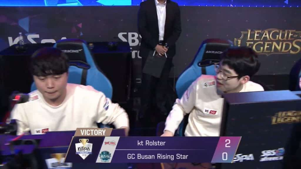 KT Rolster sweeps GC Busan, teases new starting lineup Esports LEague of Legends LoL