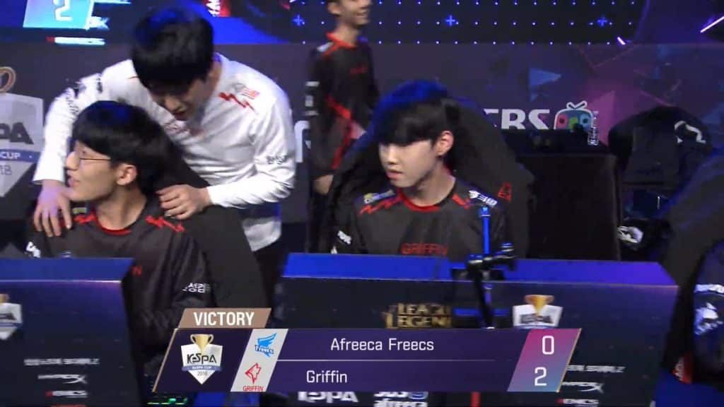 LoL Esports Griffin with sweep over Afreeca Freecs LCK League of Legends