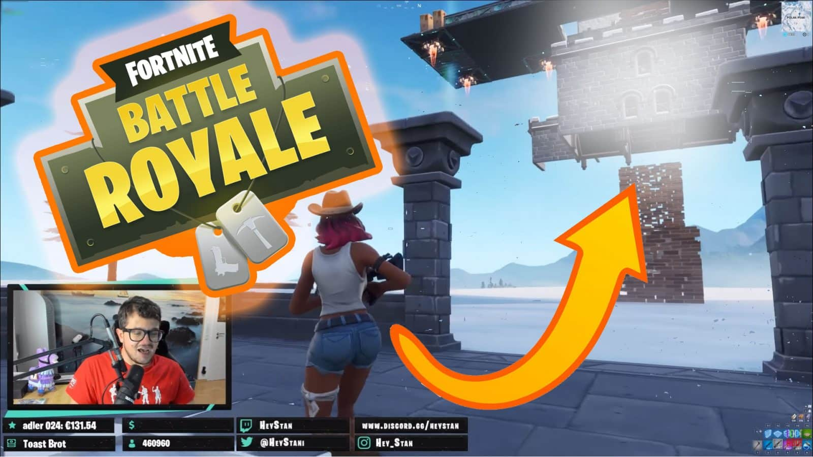Polar peak is more than just a castle! Fortnite Battle Royale Ninja