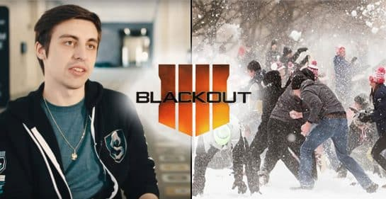 Shroud Has an Epic Snowball Fight in Blackout Call of Duty Black Ops 4 Esports CSGO
