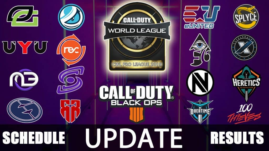 CWL Pro League 2019 Schedule and Teams Official Call of Duty Black Ops 4 Update