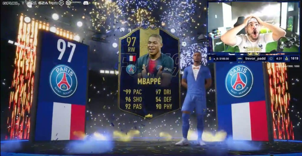 Esports FIFA 19 TOTY Mbappe France unpacked Castro1021 Twitch Gaming
