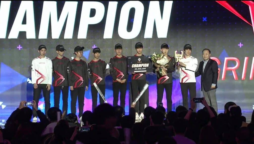 Esports KeSPA Cup finals Griffin sweeps Gen.G Champion LoL League of Legends