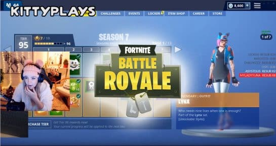 Esports KittyPlays See Lynx Skin in Fortnite. Freaks out Battle Royale