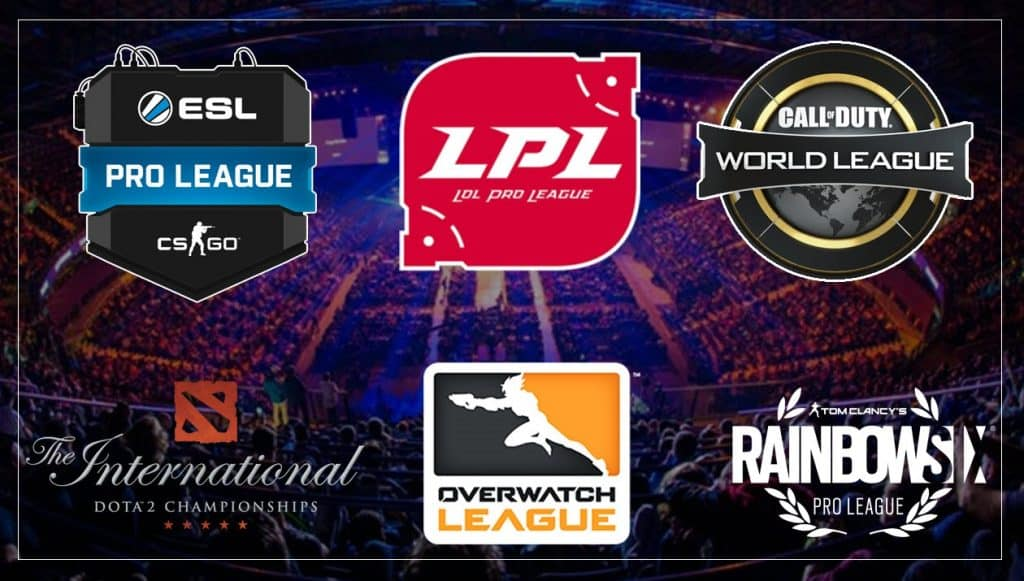 Esports Major Leagues CWL ESL LPL RB6 OWL IT
