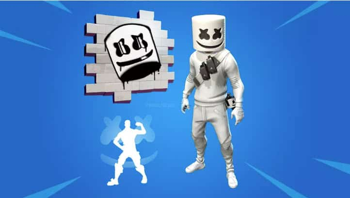 Fortnite Marshmello skin and bling