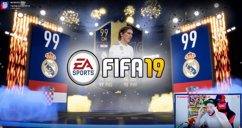 Fuji720p Unpacked Two FIFA 19 TOTY Cards Single Day Twitch Streamer