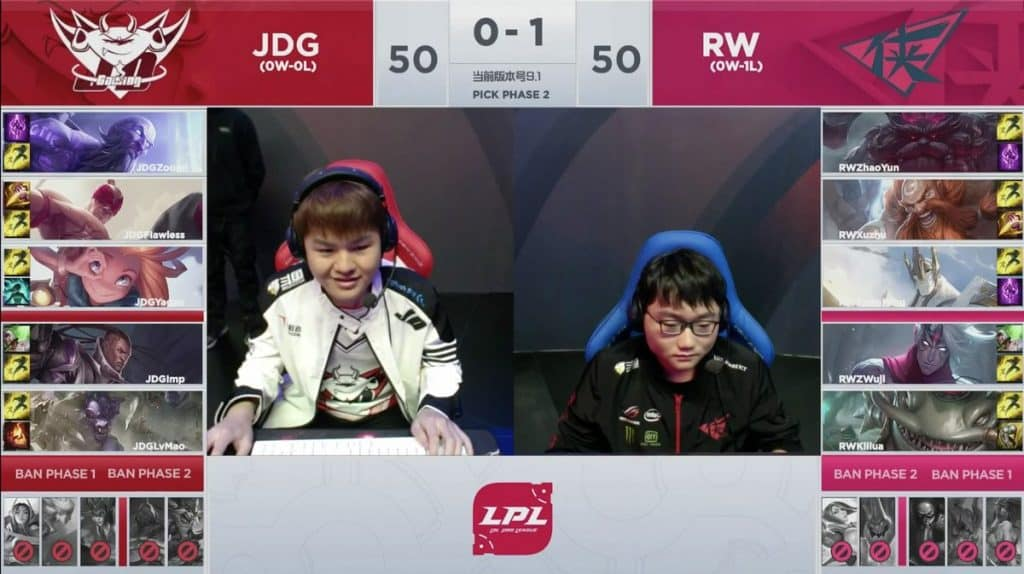 LoL Pro League LPL JDG vs RW Esports