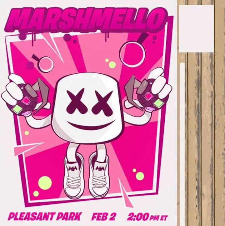 Marshmello fortnite concert Pleasant Park 2