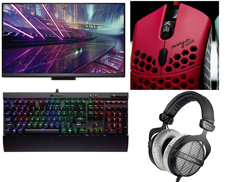 Ninja fortnite headset monitor mouse keyboard setup