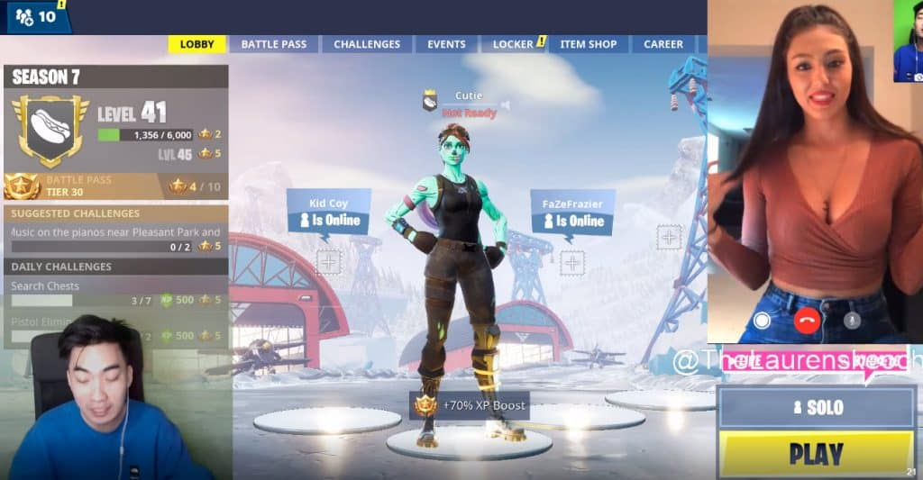 RiceGum Fortnite Battle Royale Lauren Skeoch @thelaurenskeoch Instagram Model