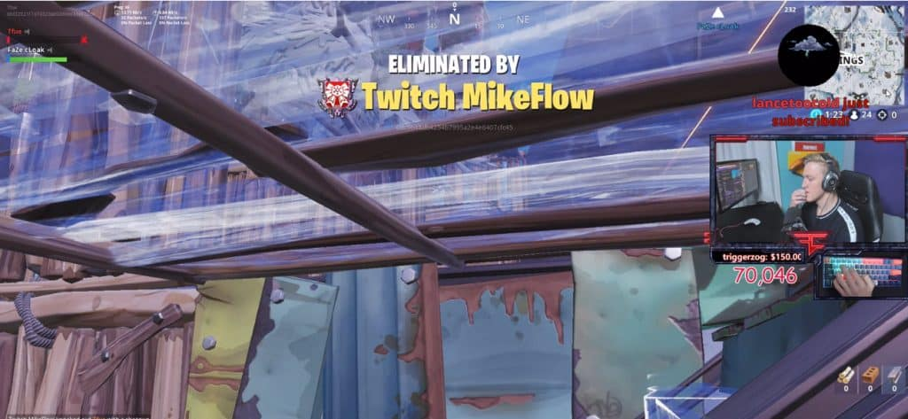Tfue Eliminated by Twitch MikeFlow