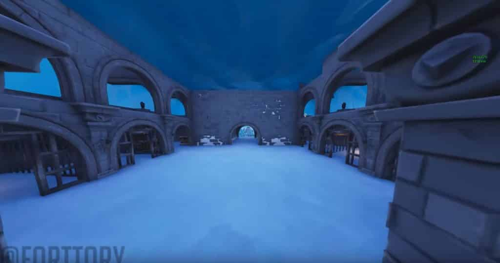 fortnite ice castle ice melting in the dungeon