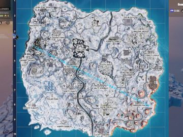 fortnite map covered in snow map changes for V7.20