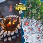 All Fortnite environmental Campfire Map locations
