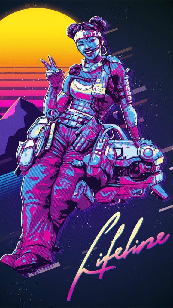 Apex Legends Art 80s Lifeline Retro Art