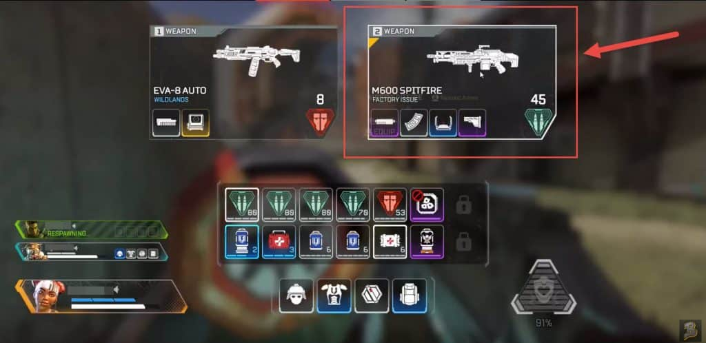Best Gun Combo in Apex Legends Spitfire LMG Light Heavy Machine Gun Best in Game Charge