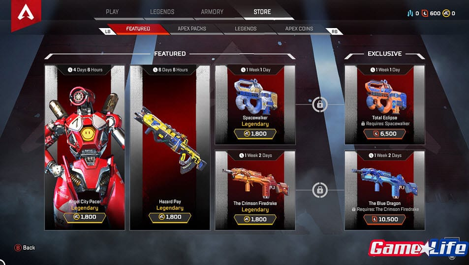 Apex Legends Store Feature Exclusive Items Shop