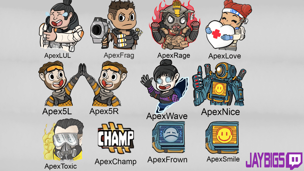 Apex Legends Twitch Emotes Art Cartoon Image