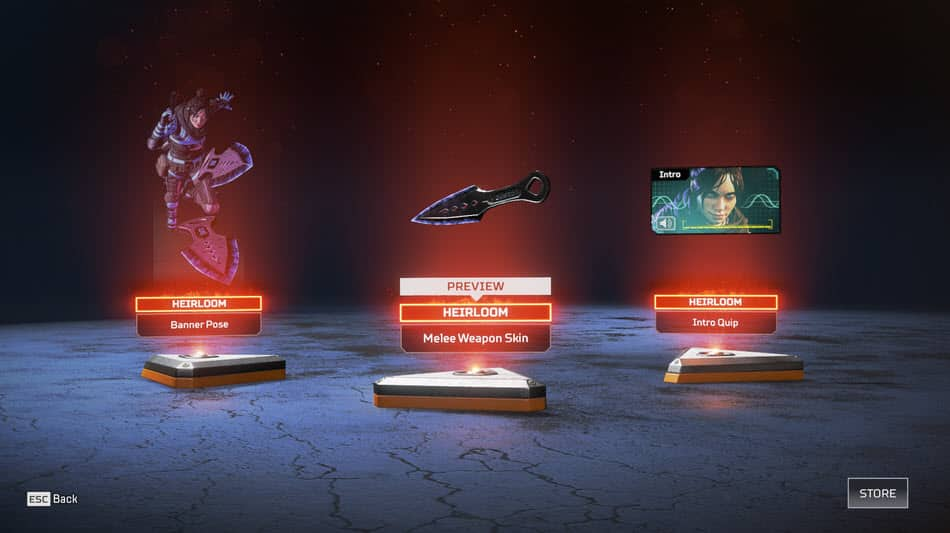 Apex Legends Wraith Heirloom Set