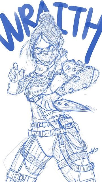 Apex Legends Wraith fan Art