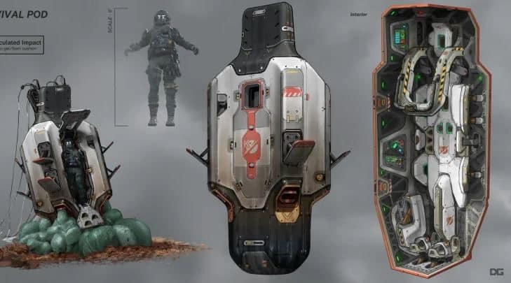 Apex Legends survival pods concept