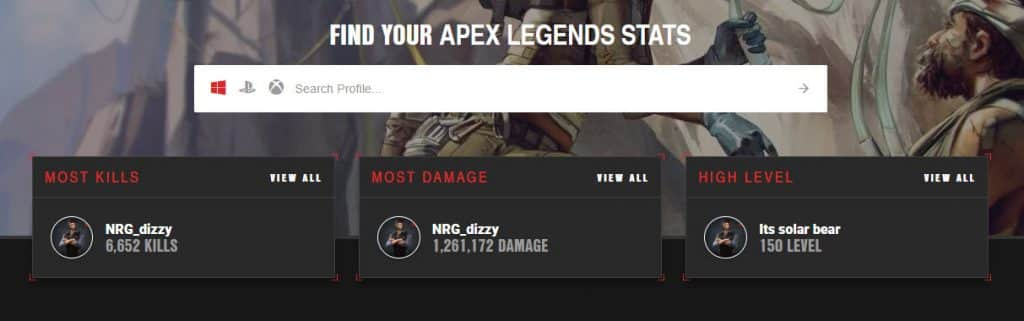 Apex Tracker Online Apex Legends Player Stats
