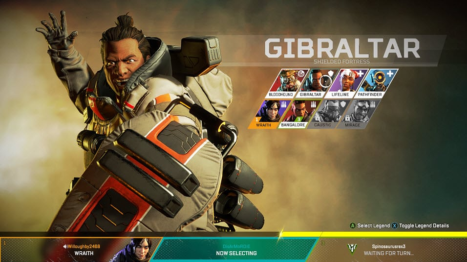 Apex legends Gibraltar Shielded Fortress Character Special Finisher EA Games
