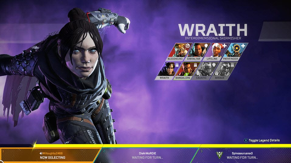 Apex legends Wraith Interdimensional Skirmisher Character Special Finisher EA Games