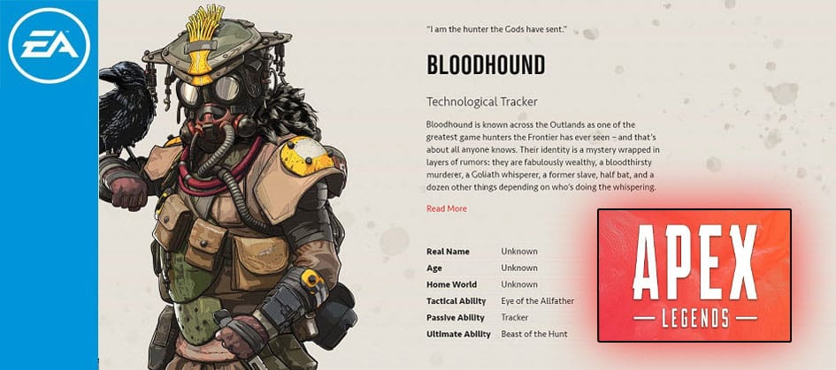 Bloodhound Apex legends Technological Tracker Character Special Finisher EA Games