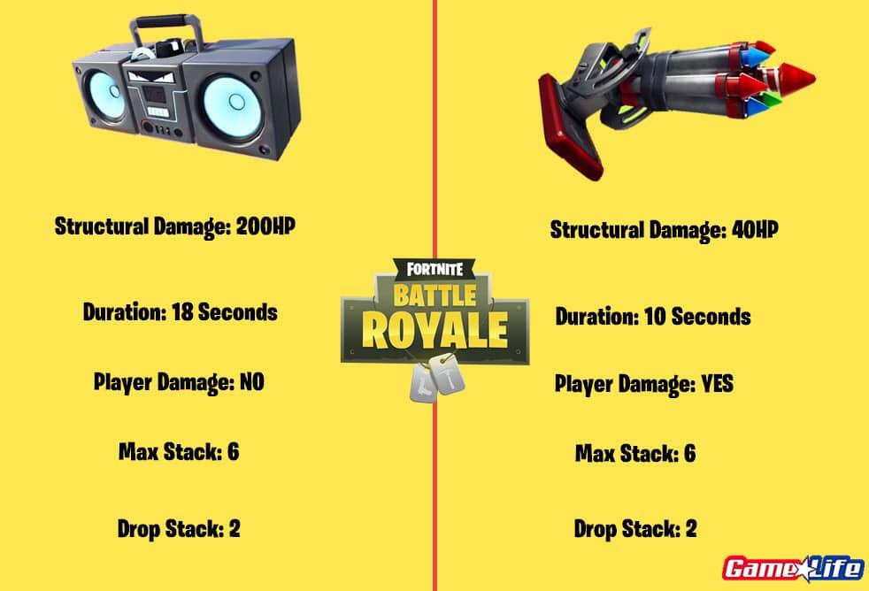 Bottle Rocket damage vs boombox damage