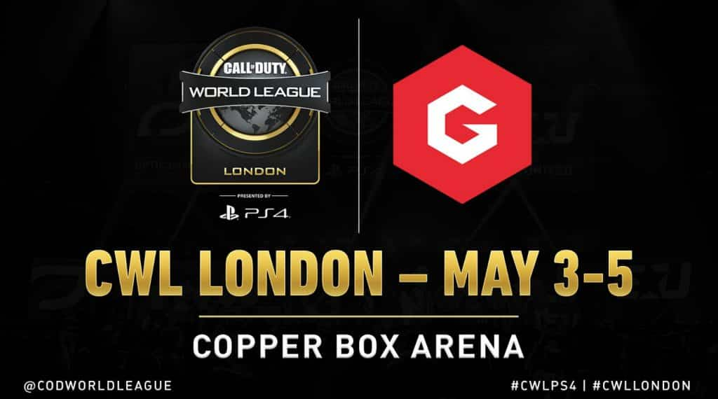CWL London Copper Box Arena Call of duty World League Gfinity Esports